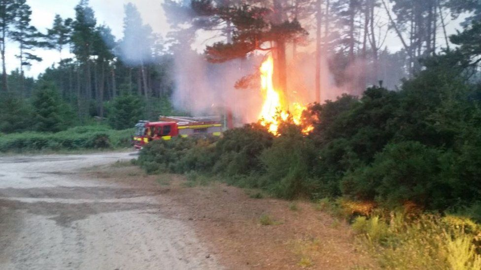 The fire at Ben Bhraggie