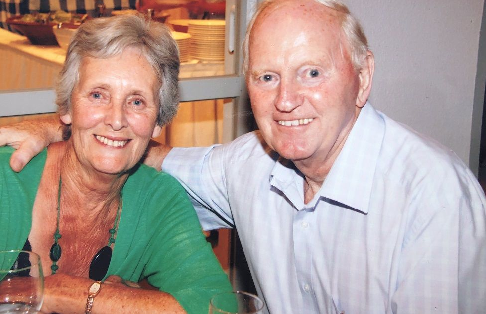 Joyce Crean, pictured with her husband