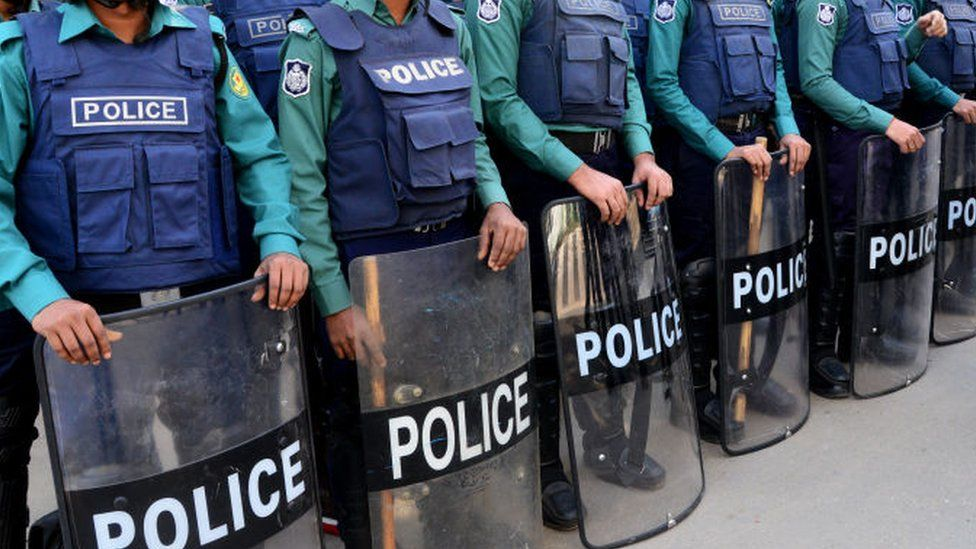 File image of police in Dhaka, Bangladesh