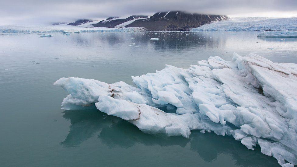 Ice floe near Spitsbergen, Svalbard