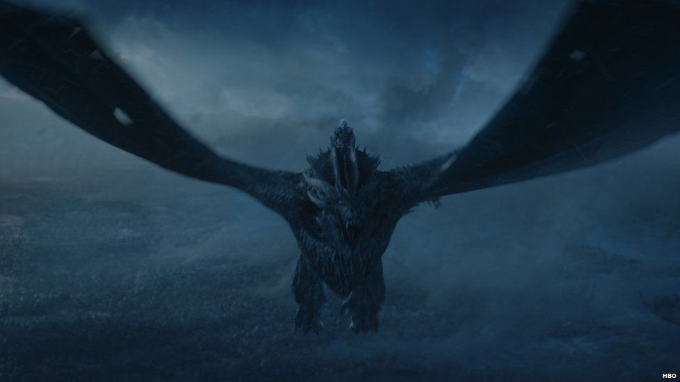The Night King on an Ice Dragon