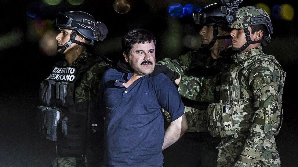 """Joaquin Guzman Loera, also known as """"El Chapo"""" is transported to Maximum Security Prison of El Altiplano in Mexico City, Mexico on January 08, 2016."""