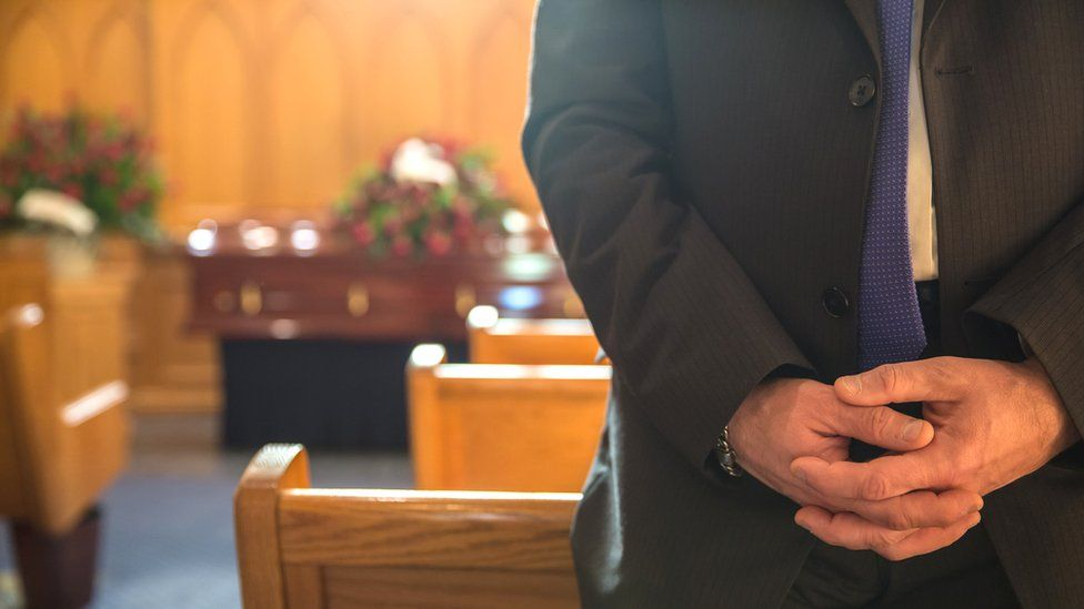 Quiet funeral