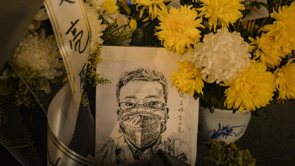 A vigil to Dr Li Wenliang