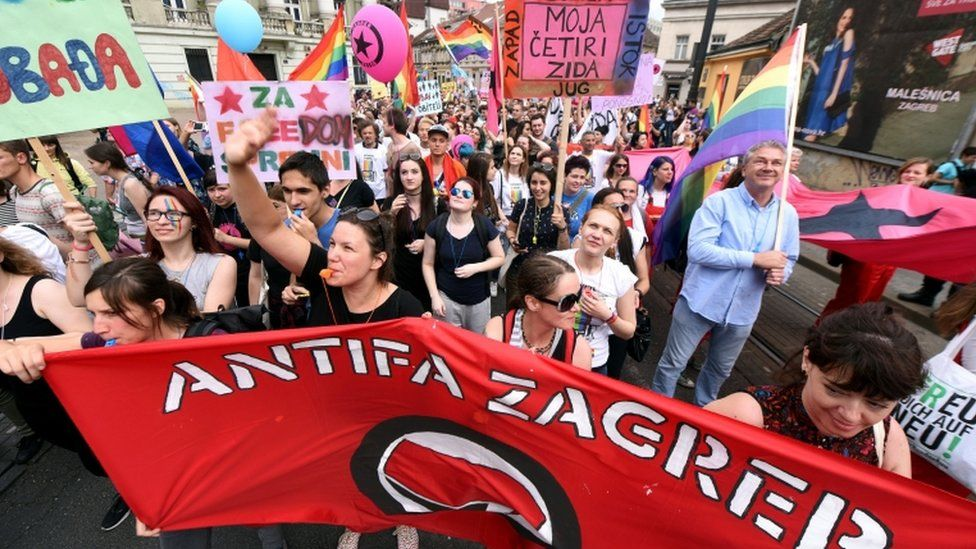 Gay pride parade in Zagreb, 11 June