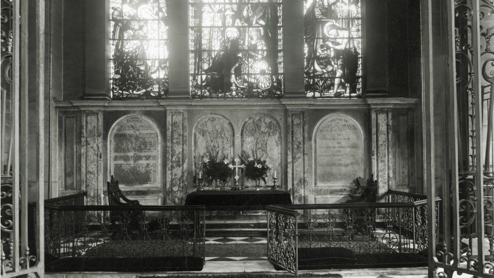 View into the sanctuary