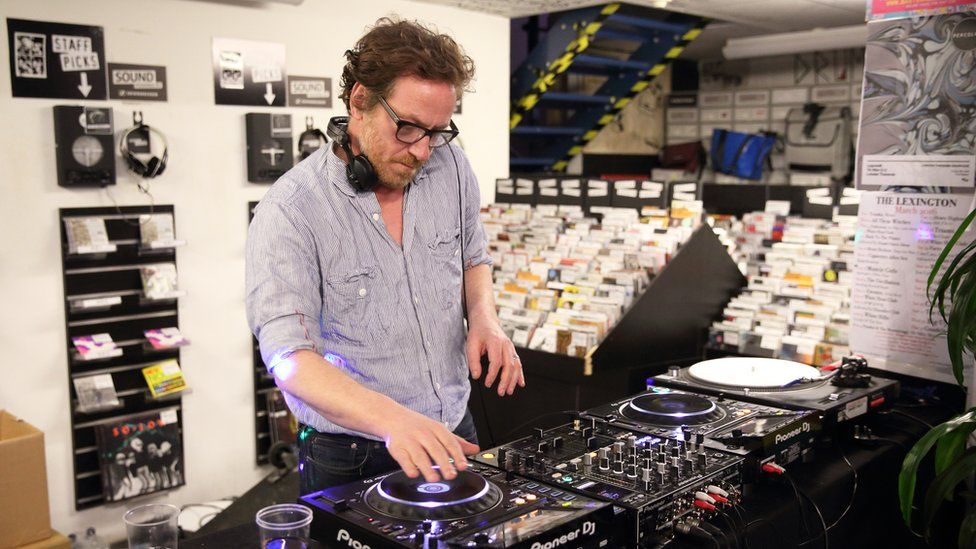 Picture of Paul Holmes for Record Store Day in 2016