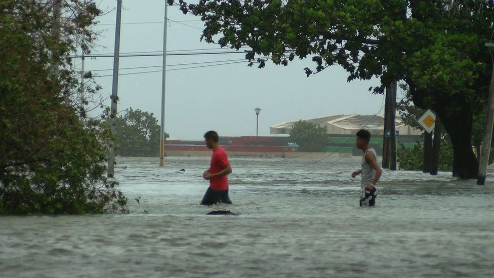 The streets of Vedado became canals in the wake of Hurricane Irma