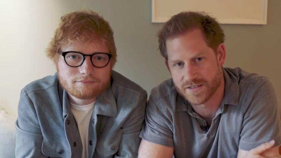 Ed Sheeran y el príncipe Harry: el video viral que grabaron los dos famosos pelirrojos