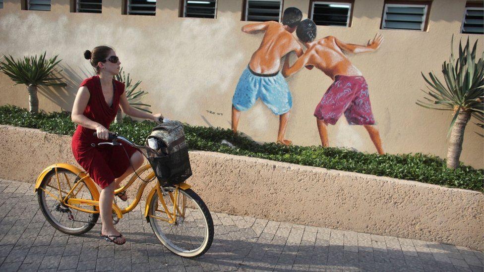 The mural in Tel Aviv