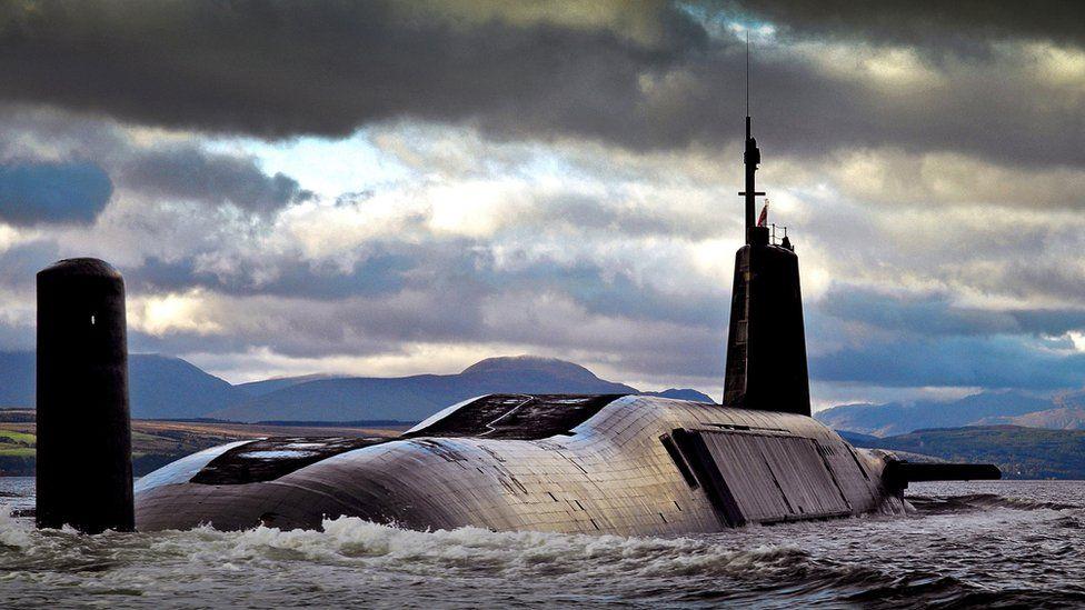 A Royal Navy Trident SSBN