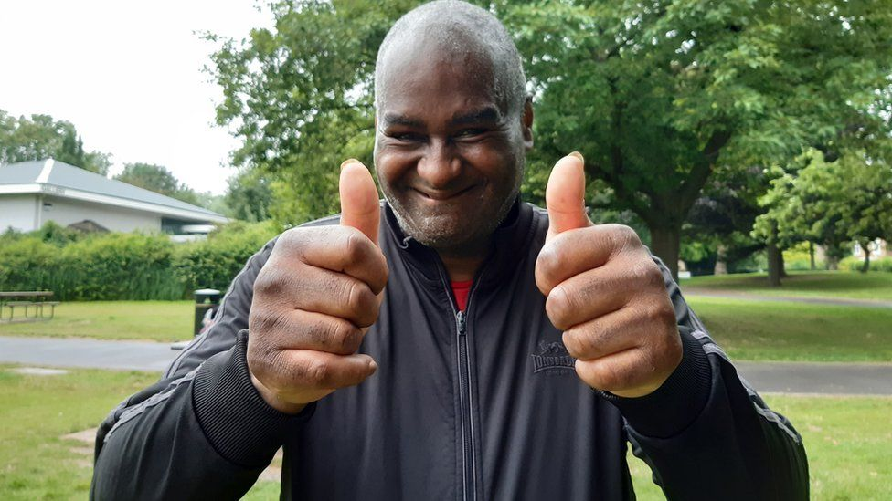 Paul Williams, 63, who was the last of the 293 finishers at the Southwark Parkrun in south-east London.
