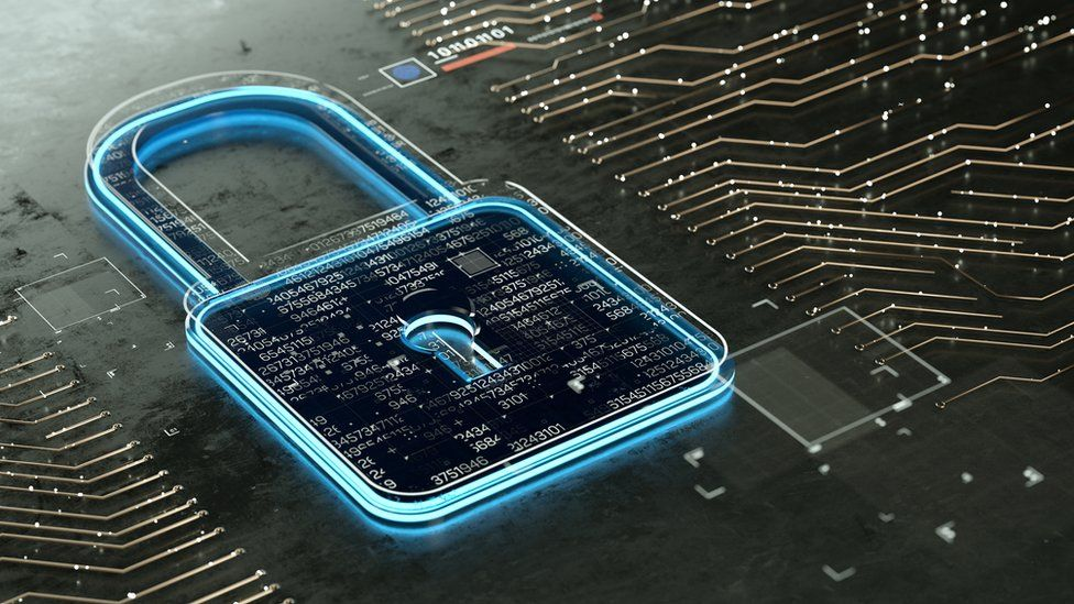 Digital encrypted Lock with data multilayers.