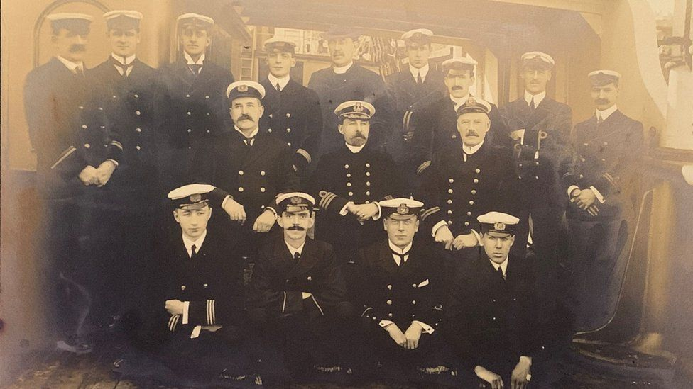 Samuel Smith with a group of staff on the S.S. Minia