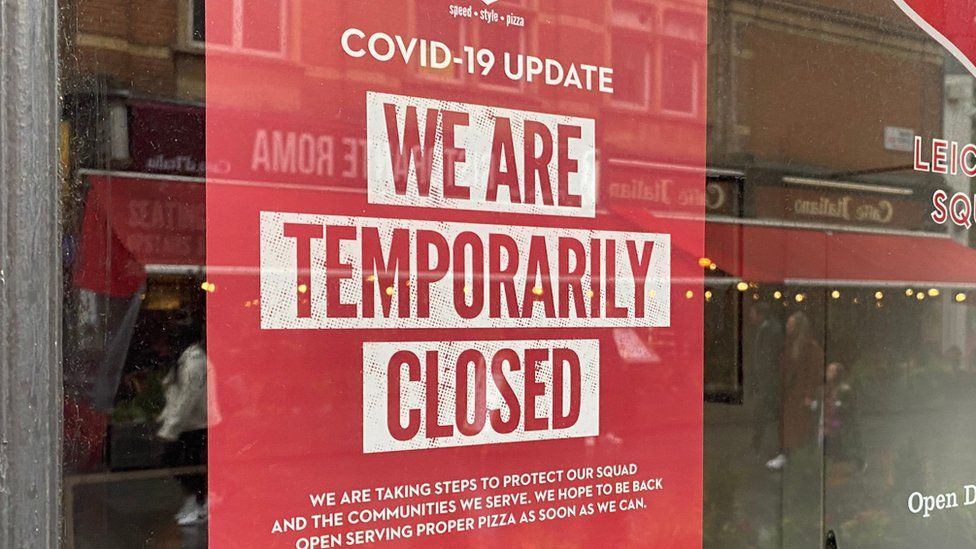 Sign saying We are temporarily closed