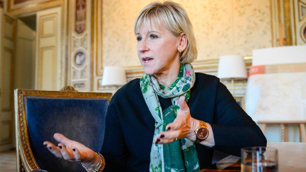 Swedish Foreign Minister Margot Wallstrom (file pic)