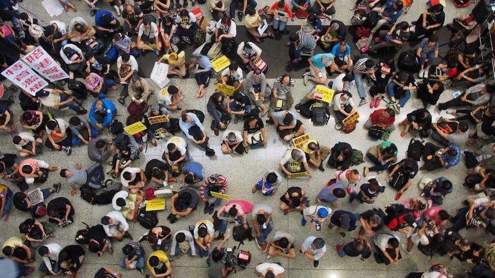 Protest at Hong Kong Airport