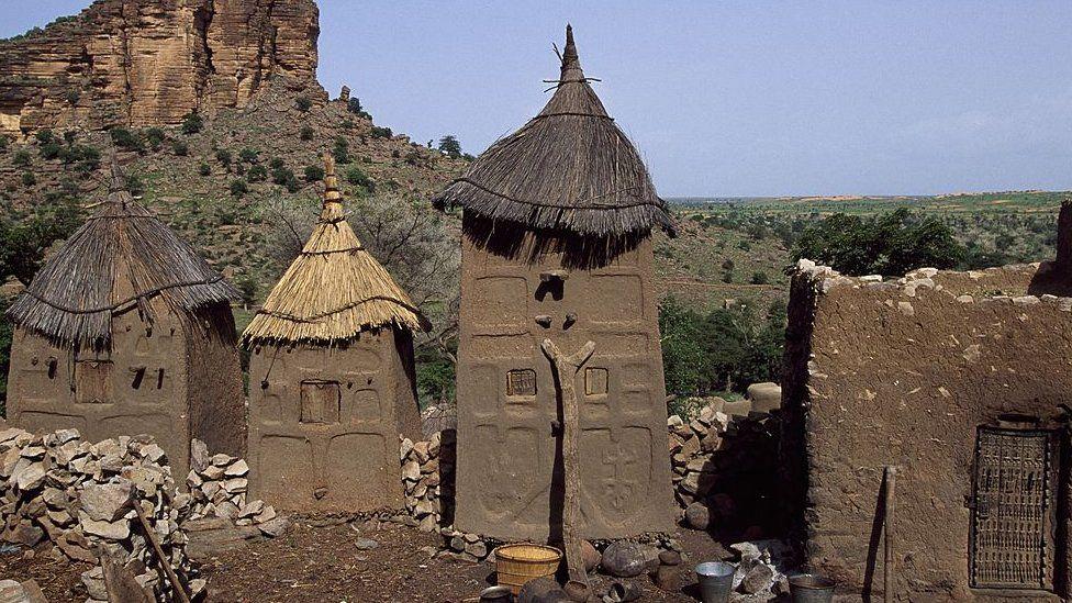 Traditional Dogon granaries