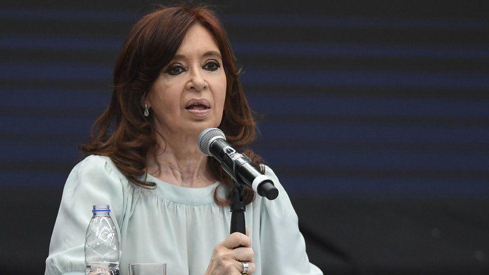 Cristina Kirchner speaking in November 2018