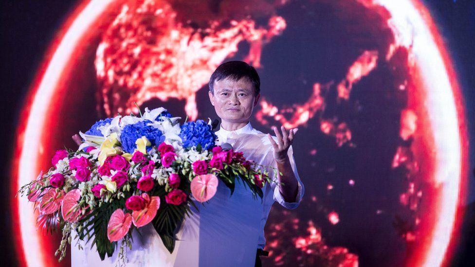 Jack Ma giving a speech