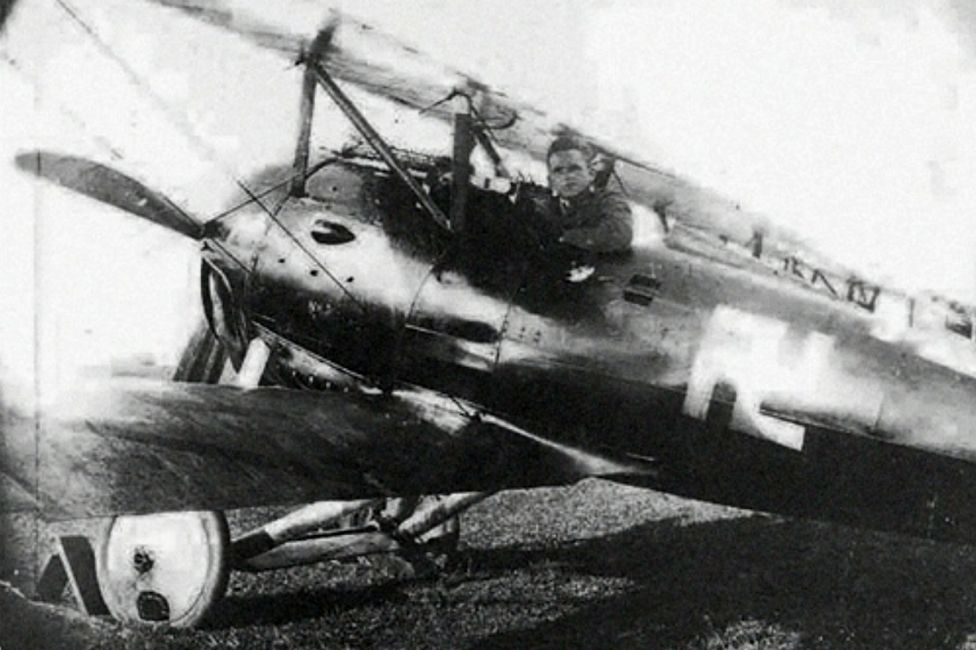 Fritz Beckhardt in his fighter aircraft