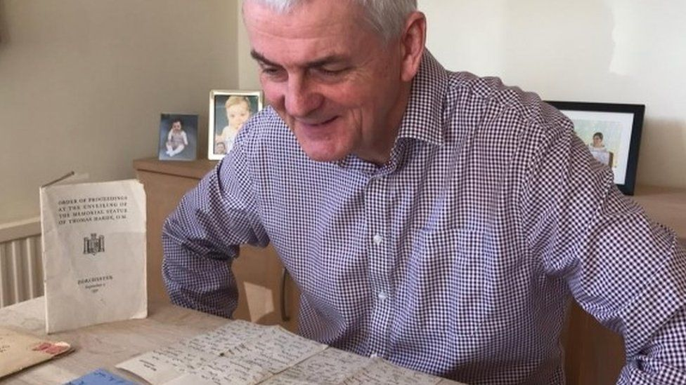 Ian Nicol with his grandfather's letters