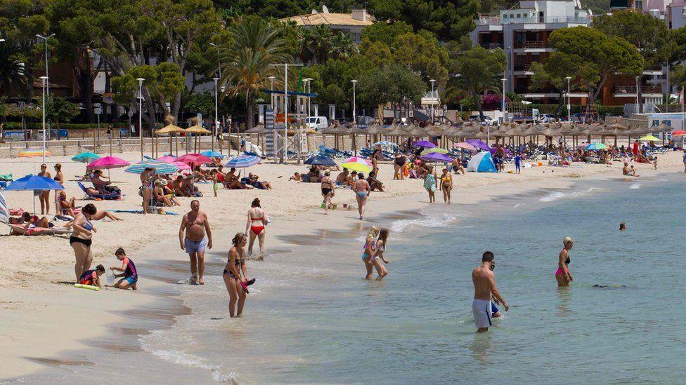 A beach in Calvia, Majorca
