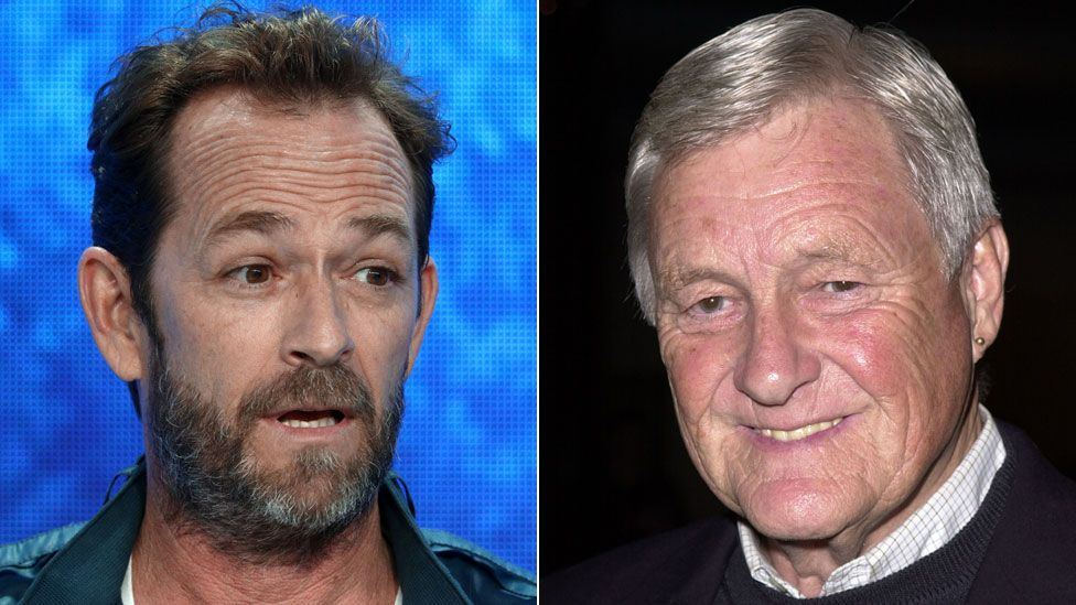 Luke Perry and Orson Bean