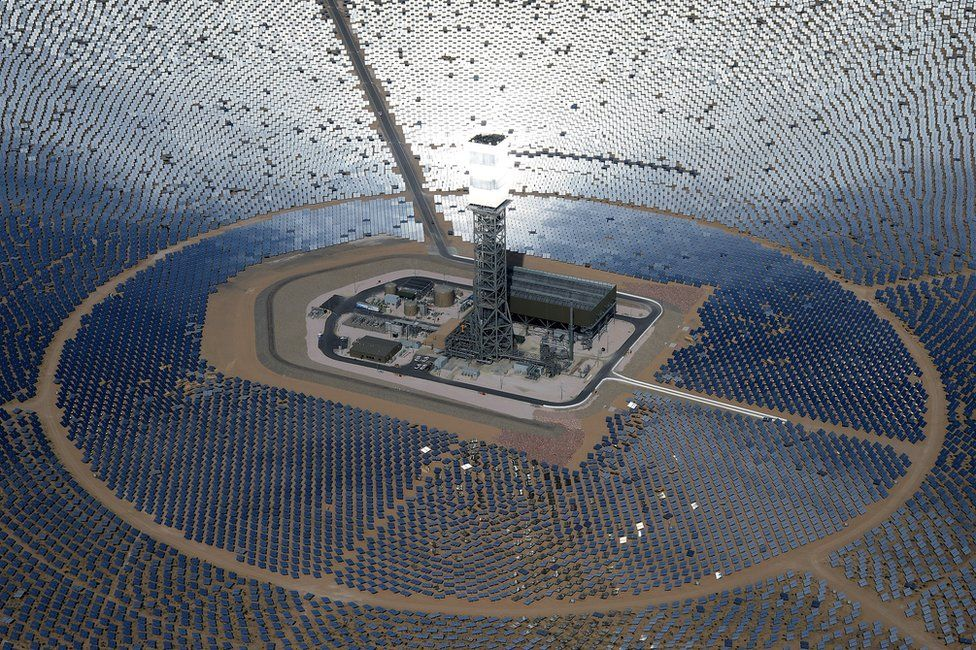 Solar plant in Mojave, California