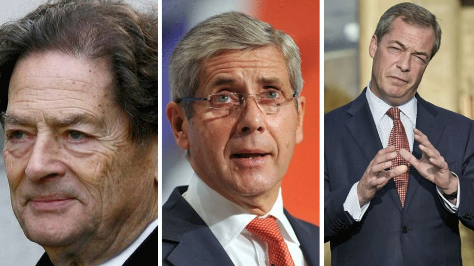 Lord Lawson, Lord Rose and Nigel Farage