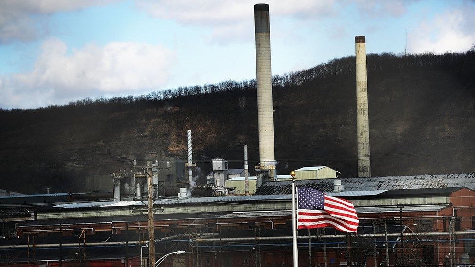 A US steel plant