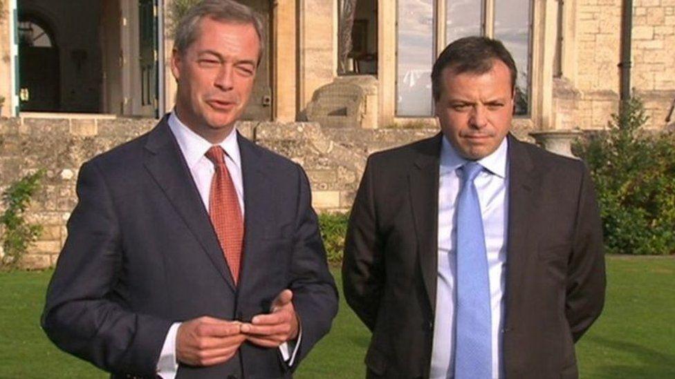 Nigel Farage and Arron Banks