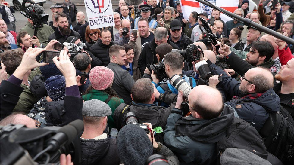 Tommy Robinson joined the FLA march through Birmingham