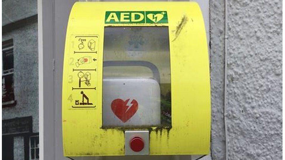 Stolen defibrillator in Randalstown