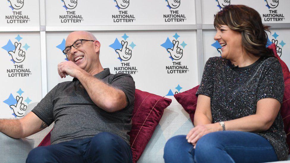 Andrew Clark with his partner Trisha Fairhurst