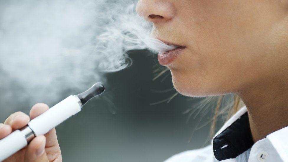 Woman with E-cigarette