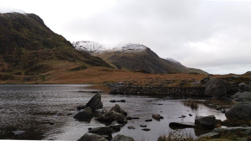 A snowy sight in Snowdonia