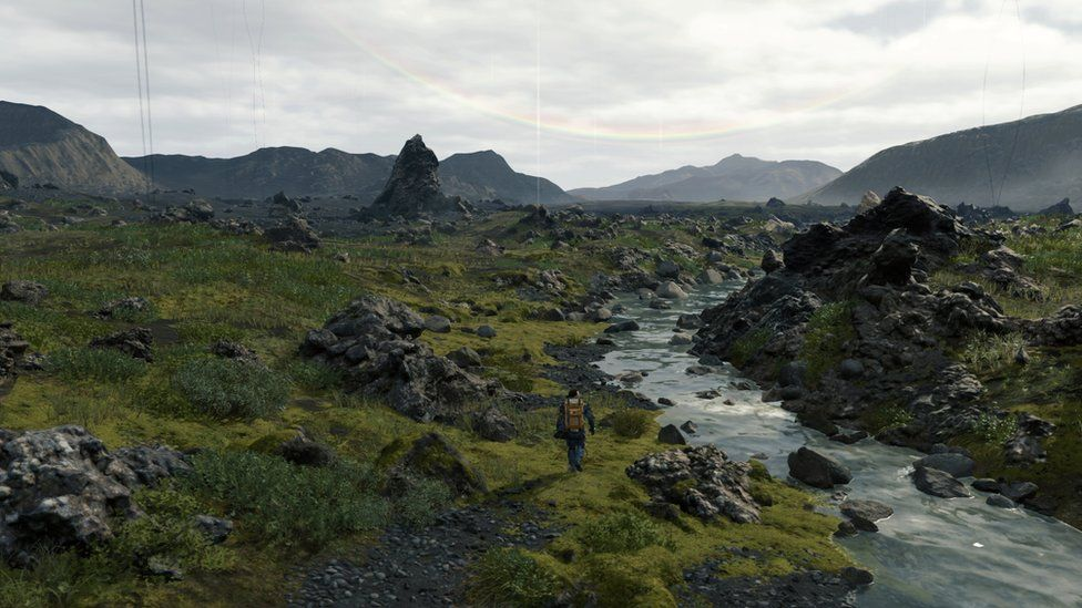 Gameplay from Death Stranding