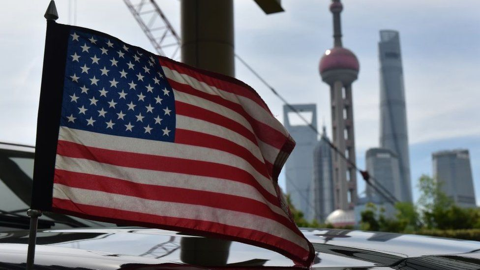 US flag in China
