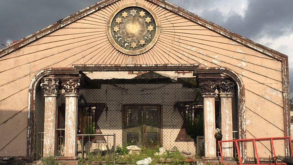 Palace grounds at Gbaramatu Kingdom