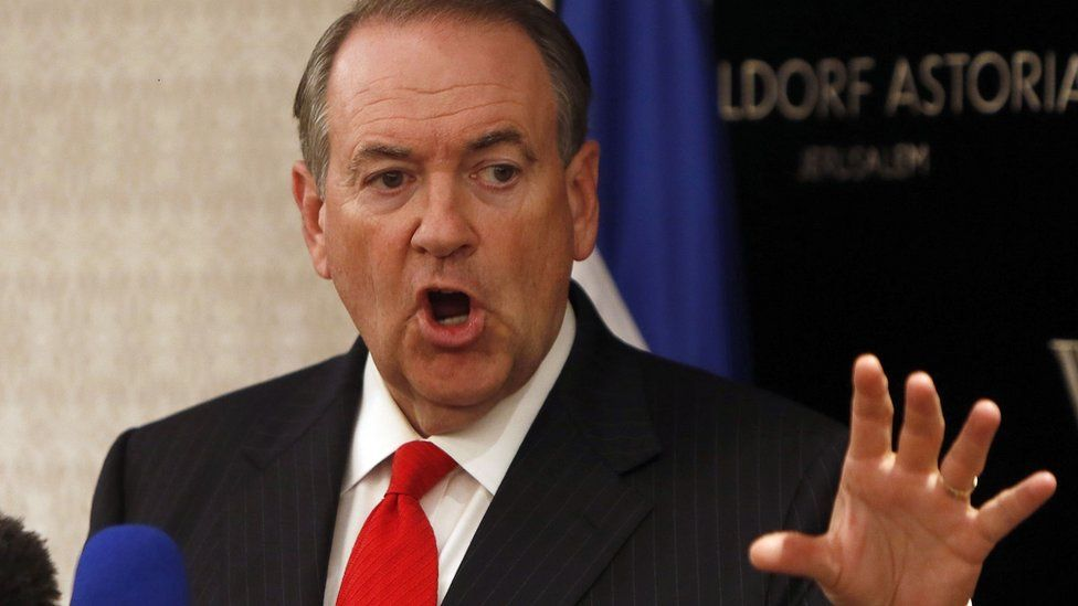 Republican presidential candidate Mike Huckabee.