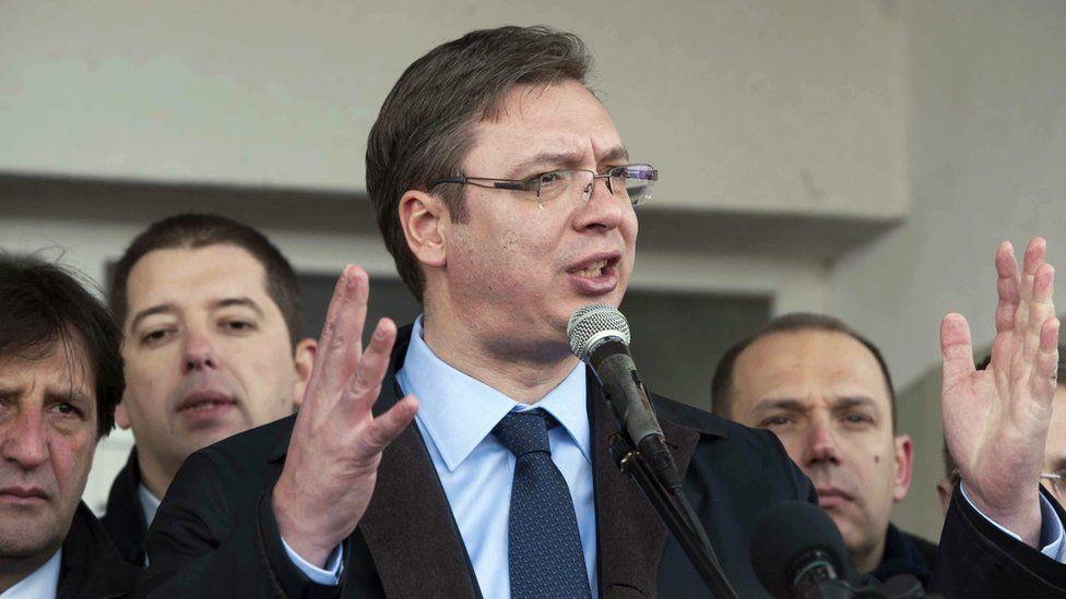 Serbian Prime Minister Aleksandar Vucic