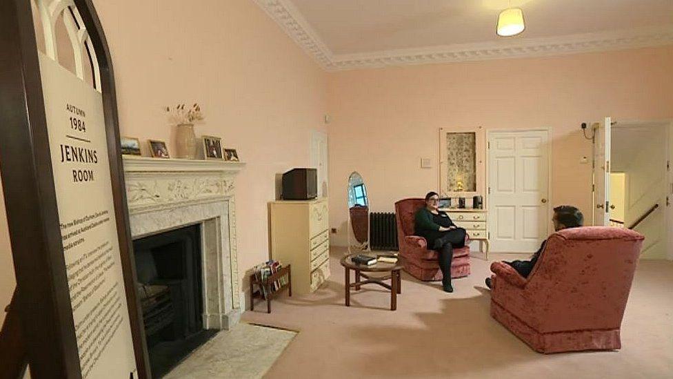 Rooms of the former bishop Dr David Jenkins