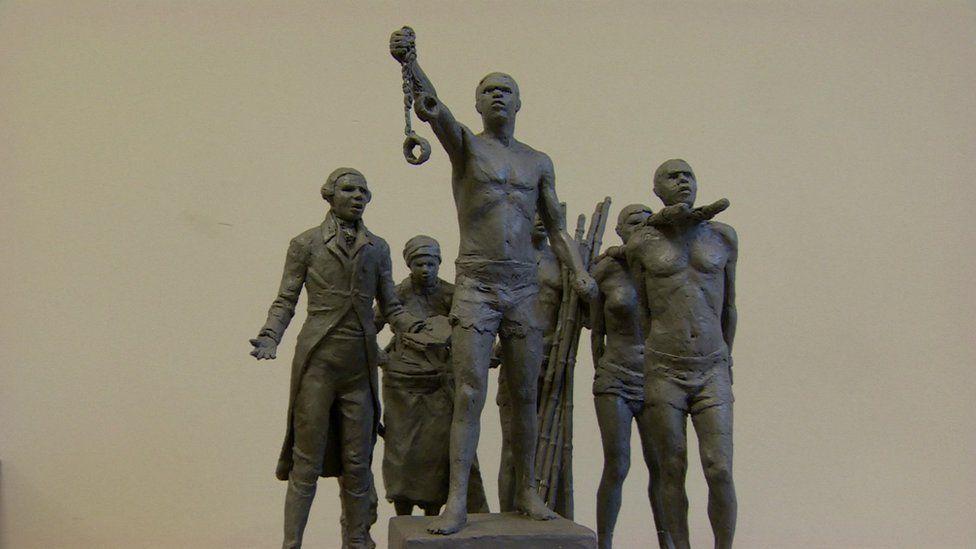 Maquette of memorial