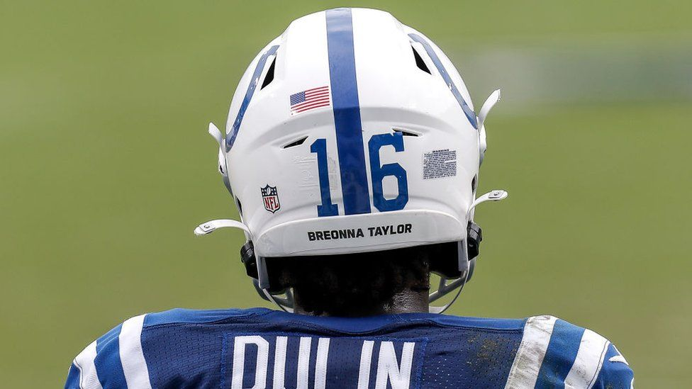 US athletes have been wearing Breonna Taylor's name on their uniforms