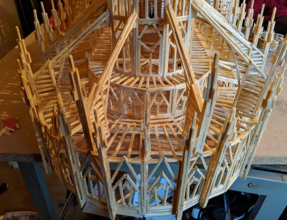 Matchstick Notre Dame