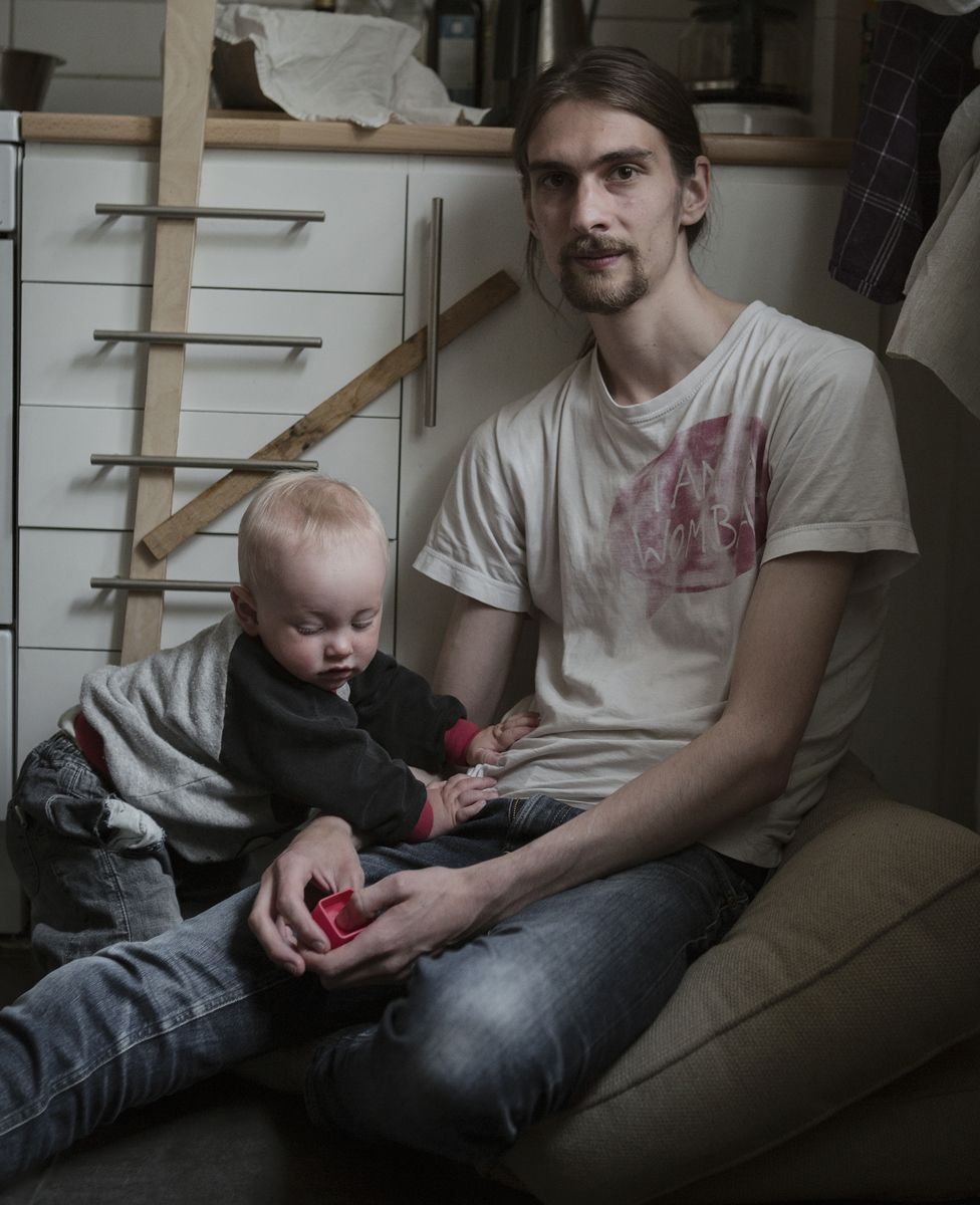 Father with young baby