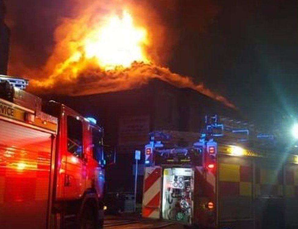 Fire in Greenock