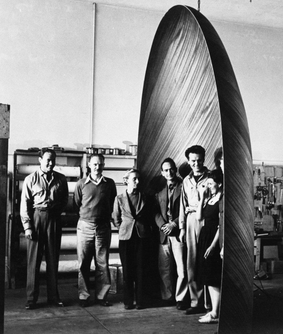 Eames-designed moulded plywood glider nose cone