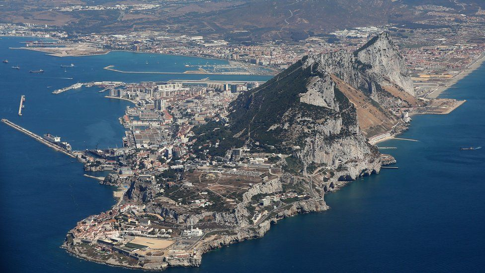 Aerial shot of Gibraltar